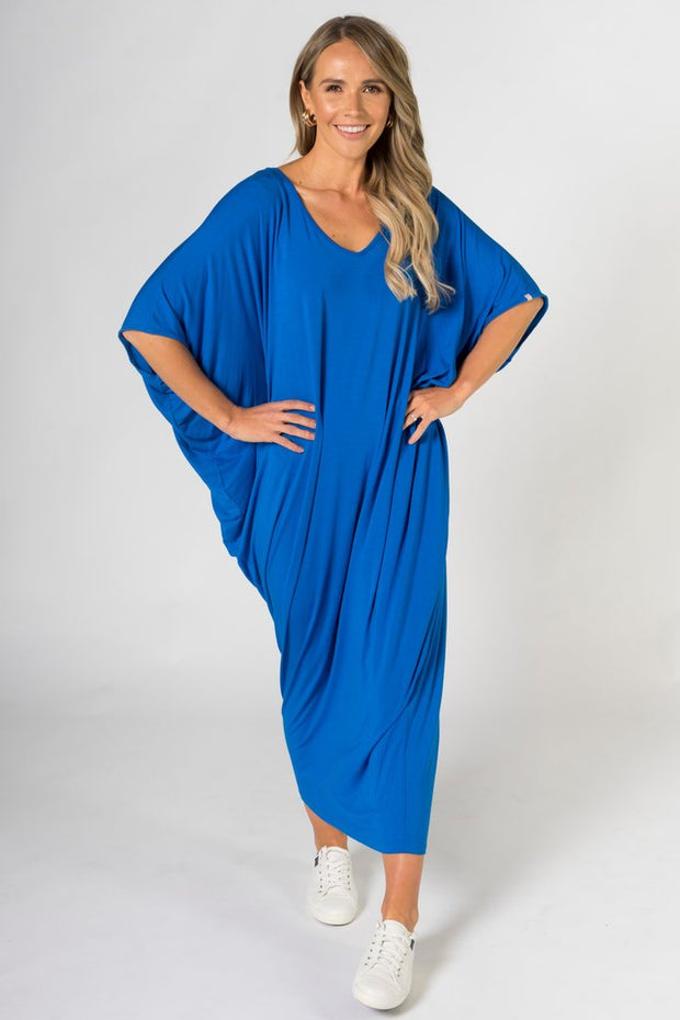 Maxi Miracle Dress in Deep Sea Blue