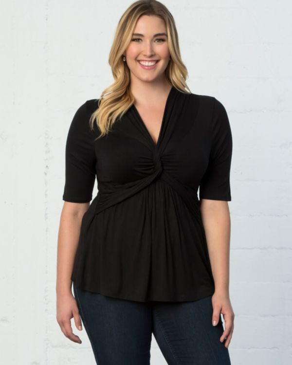 Caycee Twist Top in Black Noir