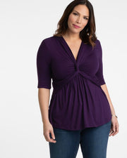 Caycee Twist Top in Purple Passion