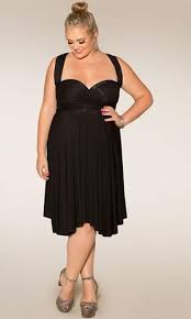 black plus size wrap dresses