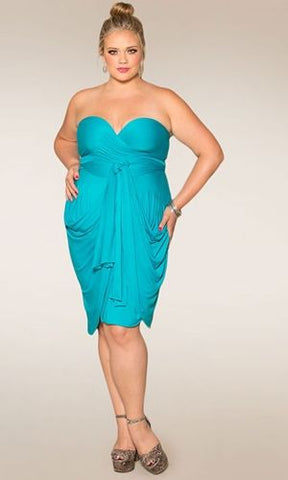 Eternity Convertible Plus Size Wrap Dress in Jade