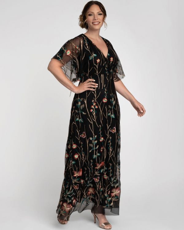 Embroidered Elegance Evening Gown