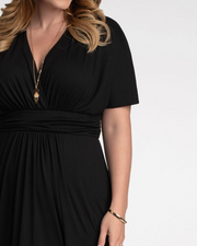 Vienna Maxi Dress in Black Noir