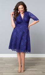 plus size formal dresses blue
