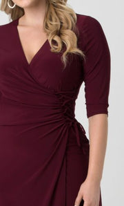 plus size cocktail dresses red
