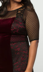 plus-size-red-lace-dress