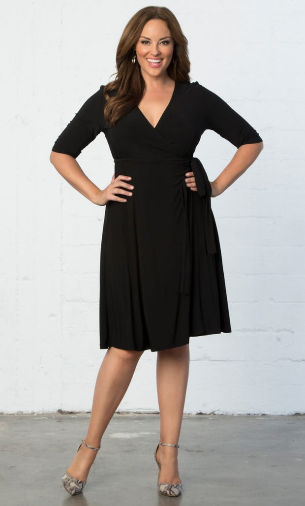 Essential Plus Size Wrap Dress