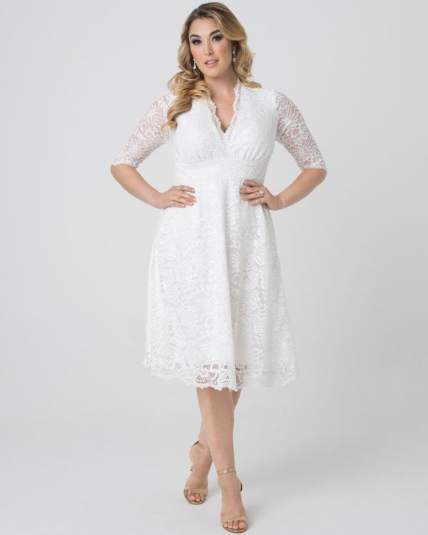 Bella Lace Dress in Ivory