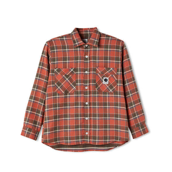 Flannel Shirt - Orange