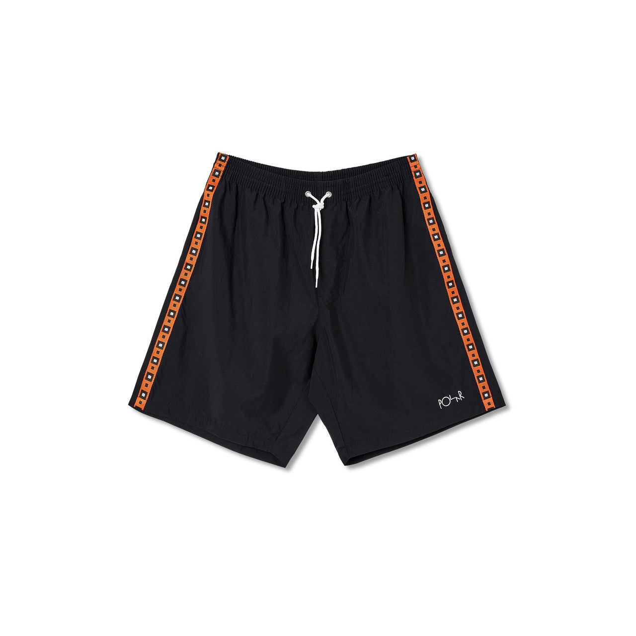 Square Stripe City/Swim Shorts - Black