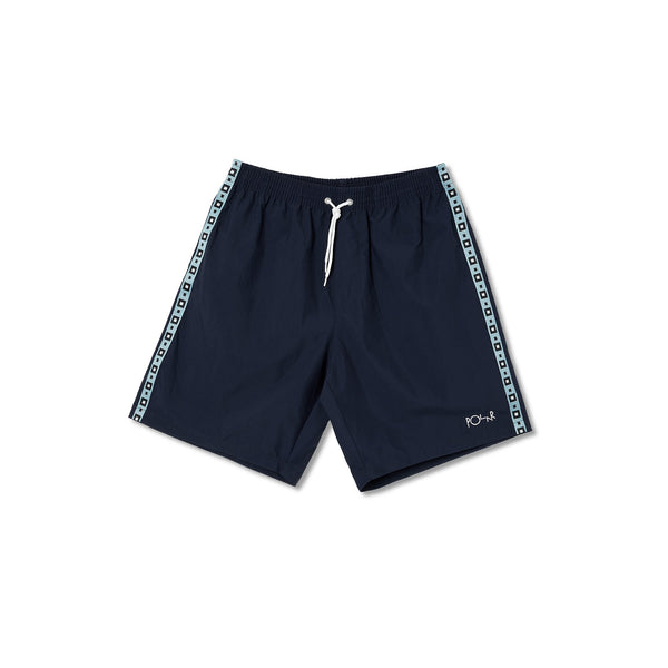 Square Stripe City/Swim Shorts - Navy