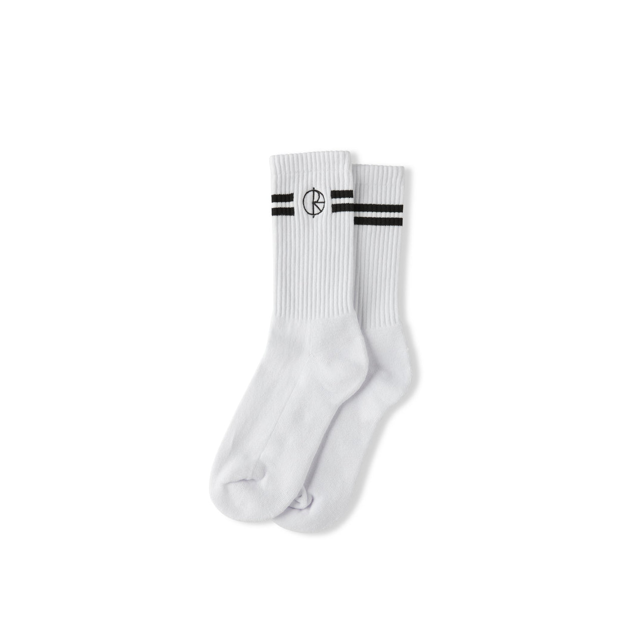Stroke Logo Socks - White