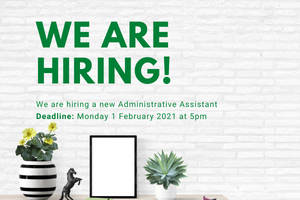 We are hiring an Administrative Assistant