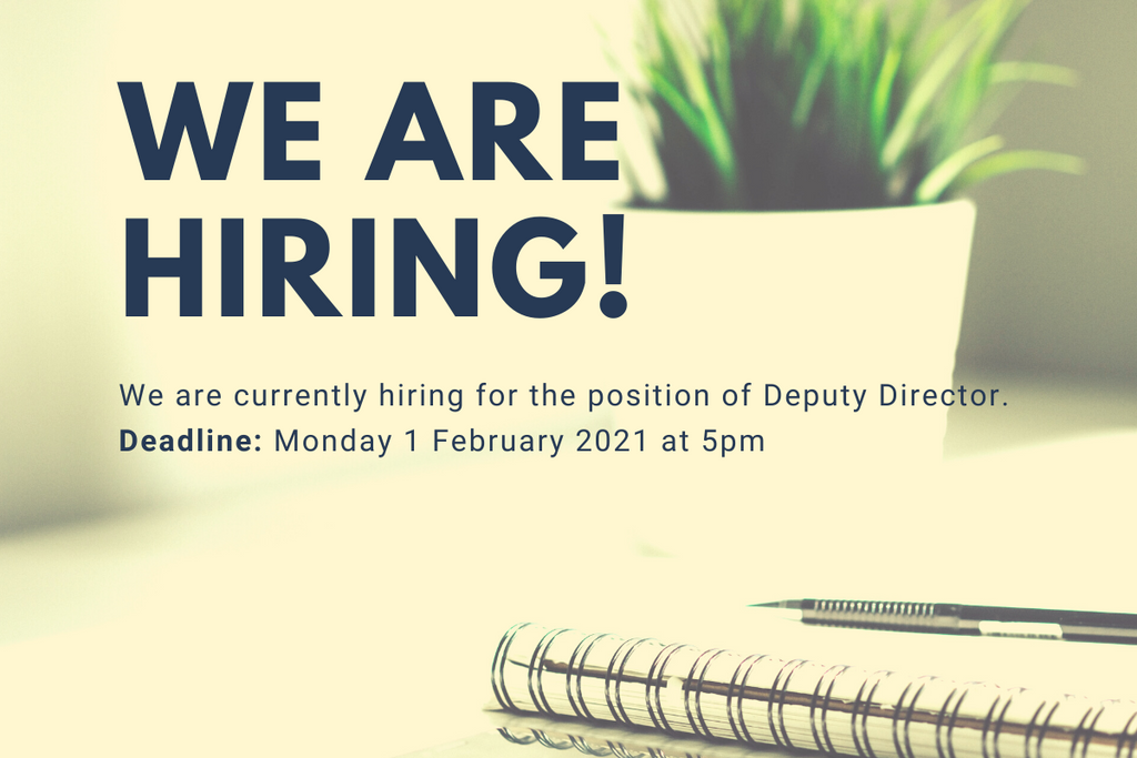 We are looking for a Deputy Director of the Irish Writers Centre
