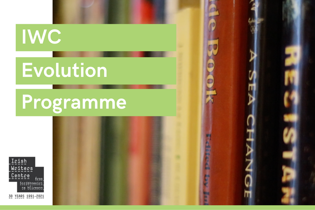 IWC Evolution Programme text with semi-focussed image of books
