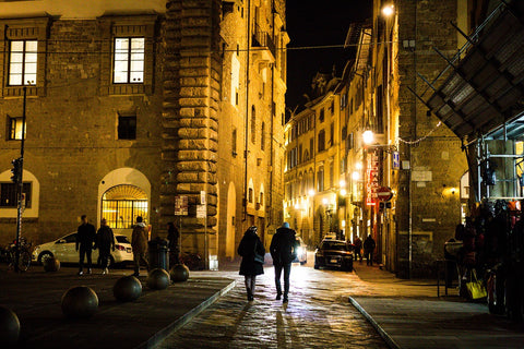 Street in Florence at night