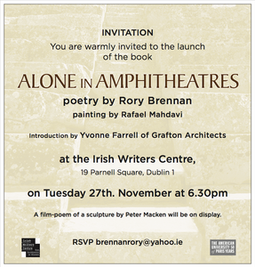 Book Launch: Rory Brennan, American University of Paris: Alone in Amphitheatres