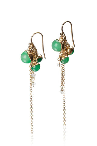Dangling Jade Earrings