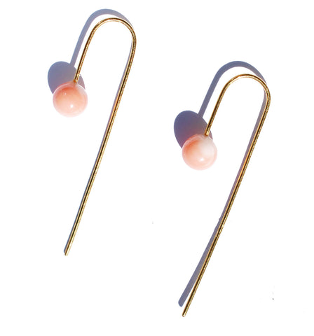 Rosy Bobbles Hook Earrings