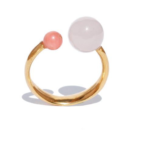 Double Rosy Bobble Ring