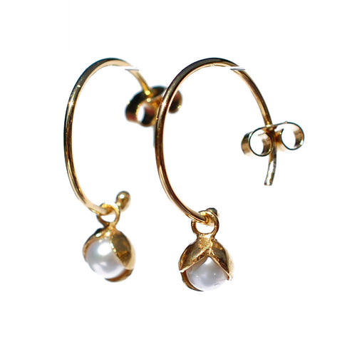 09. Small Bud Floret Hoop Earrings
