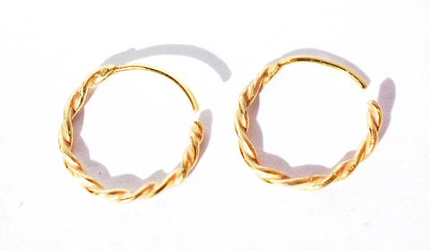 11. Sophora Twist Hoop Earrings