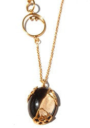 15.Floral Smokey Quartz Necklace