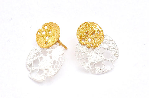 Lazy Lace Stud Earrings
