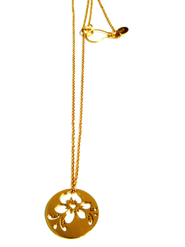 09.Flowerdisc Necklace