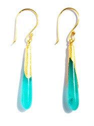 08.Long Jade Drop Hook Earrings