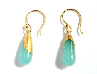 06.Short Jade Drop Hook Earrings