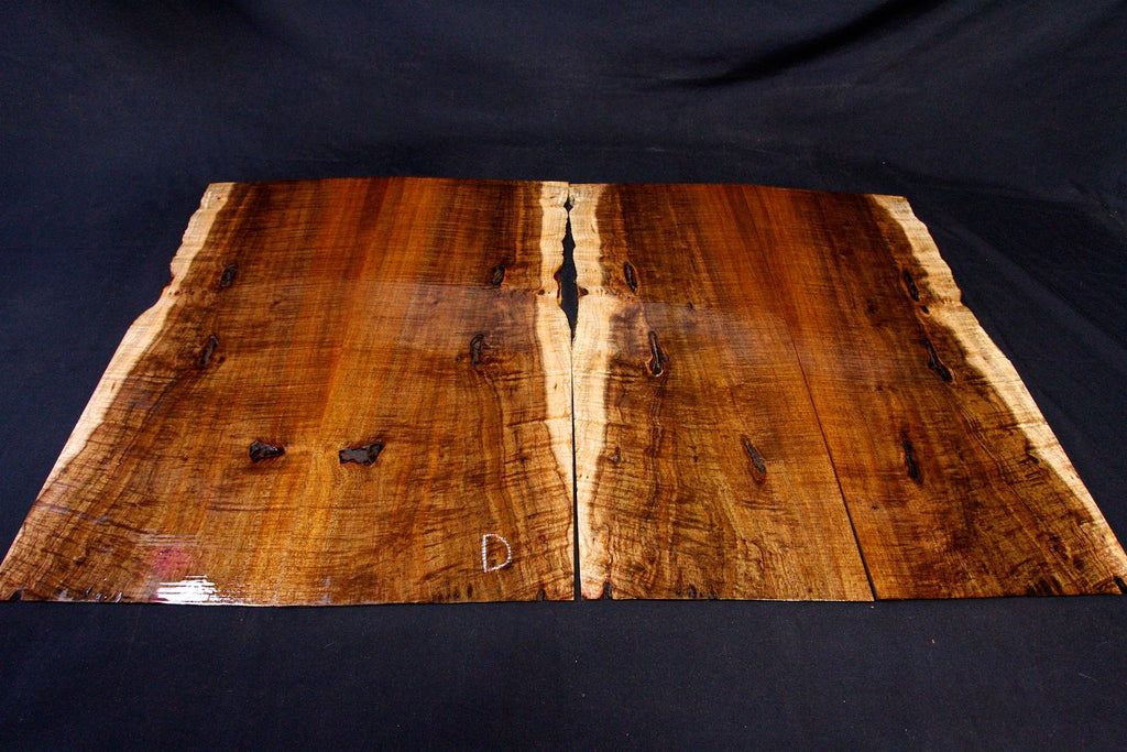 Tasmanian Blackwood Figured Ukulele Tonewood, Rosette Inlay, Headstocks