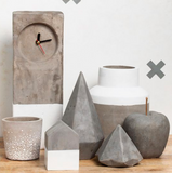 Raw/White Concrete Clock by General Eclectic