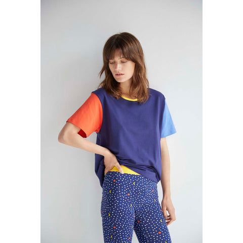 Colour Block Basic Tee by Alas