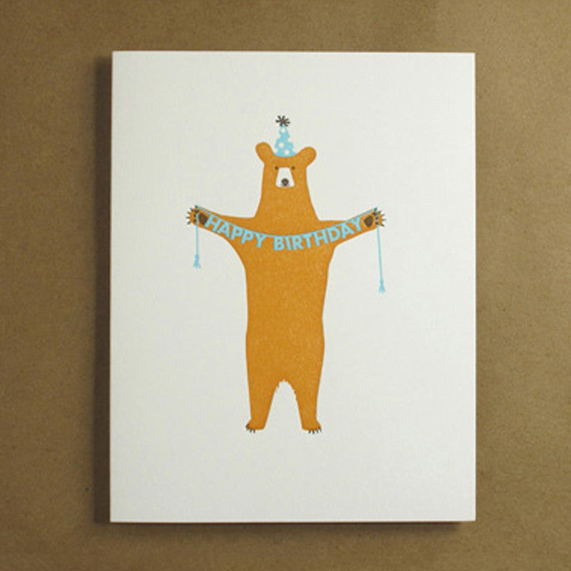 Happy Birthday Bear Card by Egg Press