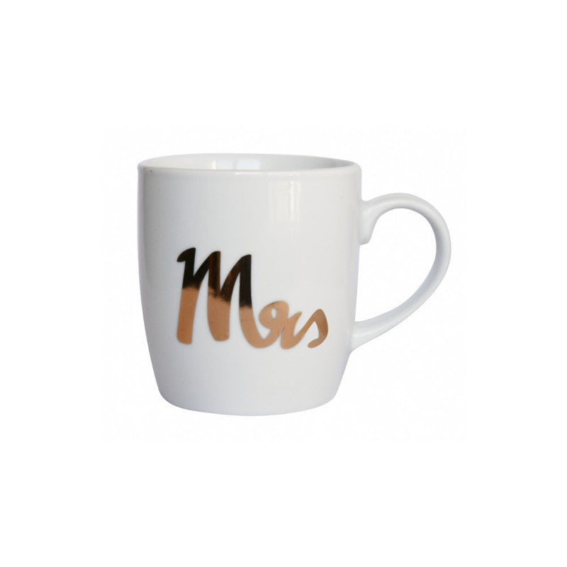 White Gold Mrs Mug by General Eclectic