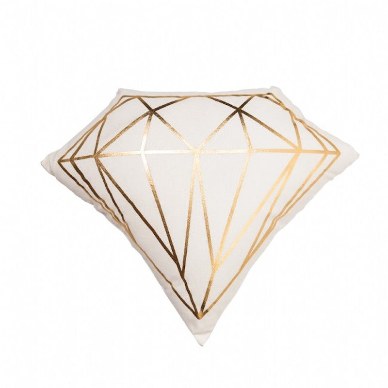 Gold Diamond Cushion by General Eclectic