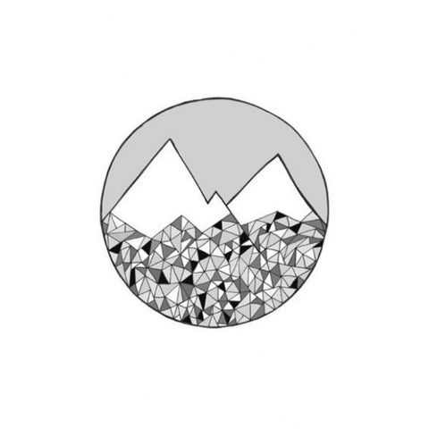 Geo Mountains Print by General Eclectic