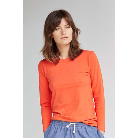 Poppy Red Long Sleeve Tee by Alas