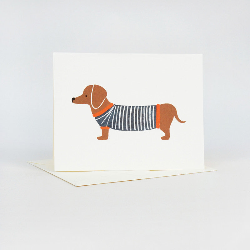 Dachshund Sausage Dog Greeting Card by Rifle Paper Co