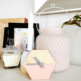 Amindy Scandinavian Pink Desk Clock