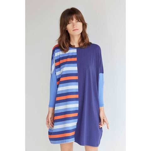 Stripe Long Sleeve Nightie by Alas