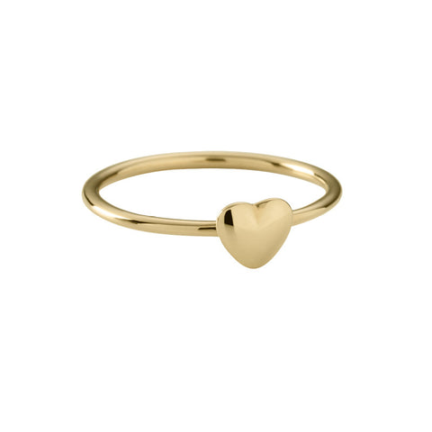 Tiny Heart Ring by Kirstin Ash | Gold