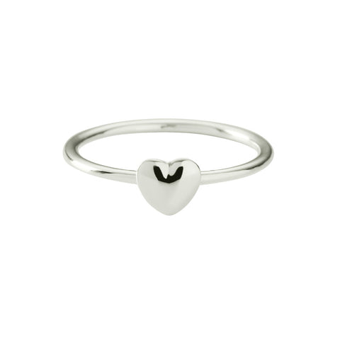 Tiny Heart Ring by Kirstin Ash | Silver
