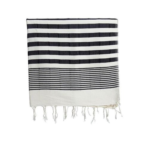 Turkish Beach Towel by Selo and Salt | Black