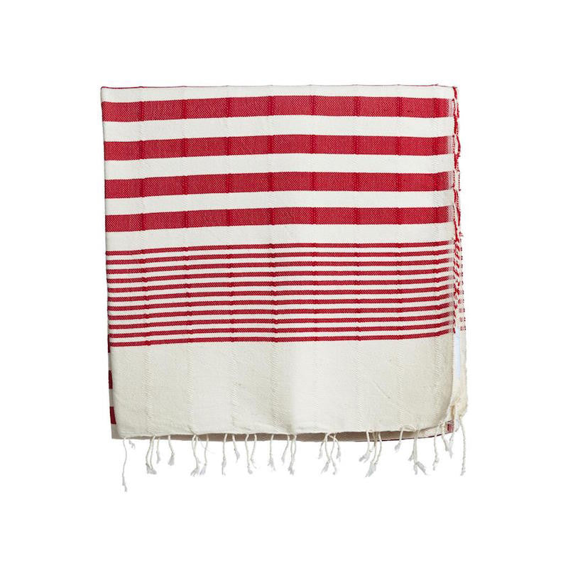 Selo and Salt red Turkish beach towel