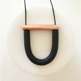 U Bar Necklace by Jack by Sam | Black & Copper