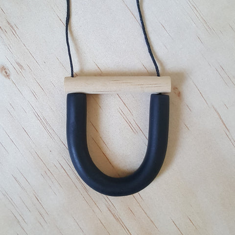 U Bar Necklace by Jack by Sam | Black & Timber