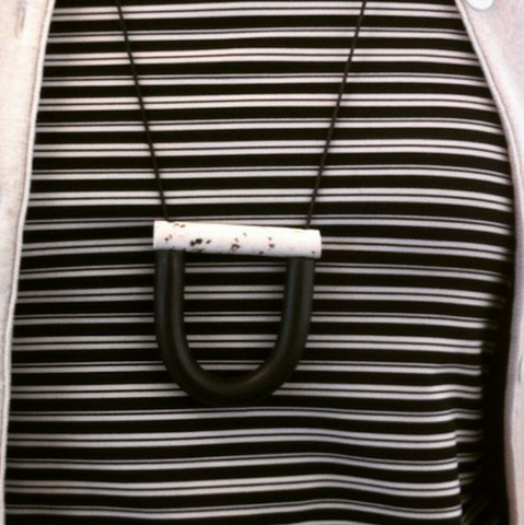 U Bar Necklace by Jack by Sam | Black & White Pepper