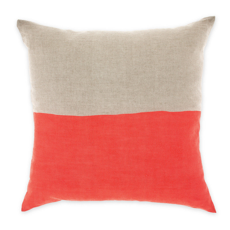 Aura by Tracie Ellis Coral Neutral Dipped Cushion